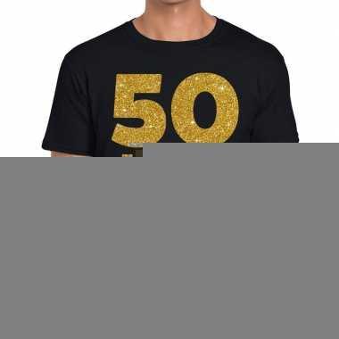 50 jaar fun jubileum t shirt zwart heren