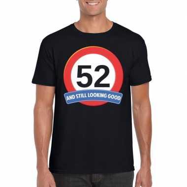 52 jaar verkeersbord t shirt zwart heren