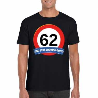 62 jaar verkeersbord t shirt zwart heren