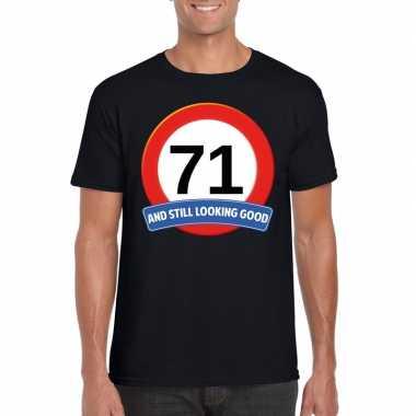71 jaar verkeersbord t shirt zwart heren