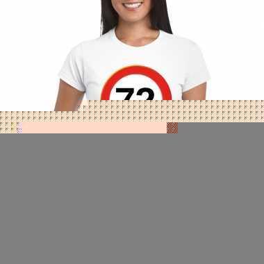 72 jaar verkeersbord t shirt wit dames