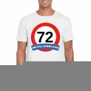 72 jaar verkeersbord t shirt wit heren