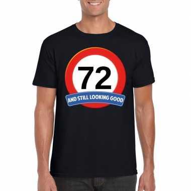 72 jaar verkeersbord t shirt zwart heren