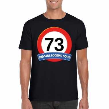 73 jaar verkeersbord t shirt zwart heren