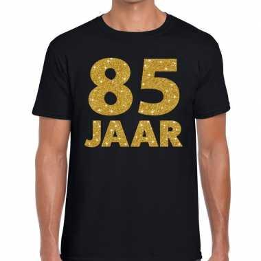85e verjaardag cadeau t shirt zwart goud heren