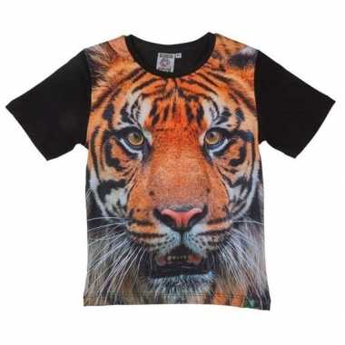 All over print t shirt tijger kinderen