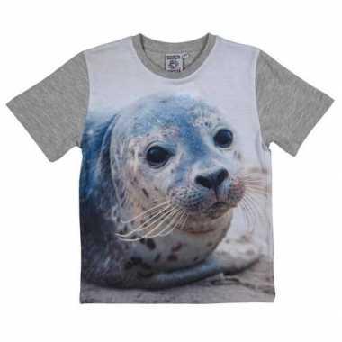 All over print t shirt zeehond kinderen