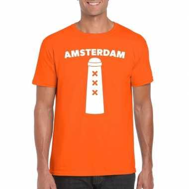 Amsterdam shirt amsterdammertje oranje heren