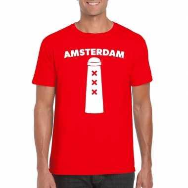 Amsterdam shirt amsterdammertje rood heren