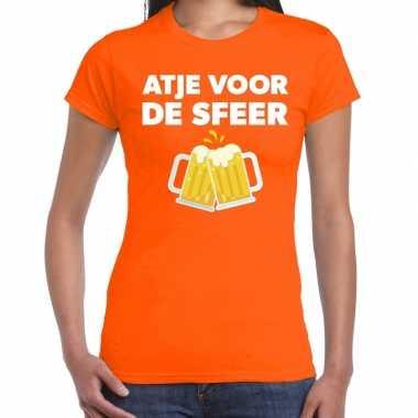 Atje sfeer fun t shirt oranje dames