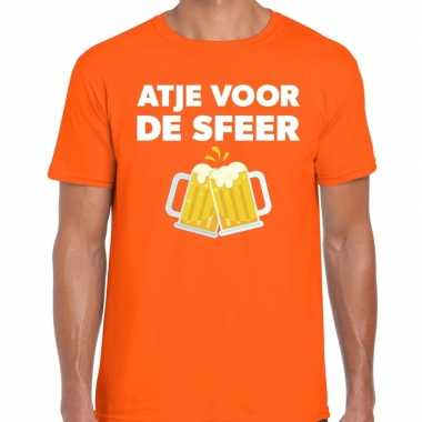 Atje sfeer fun t shirt oranje heren