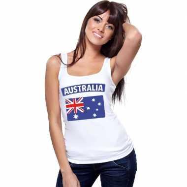 Australie vlag mouwloos shirt wit dames