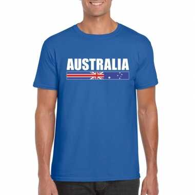 Australische supporter t shirt blauw heren
