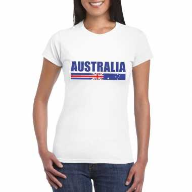 Australische supporter t shirt wit dames