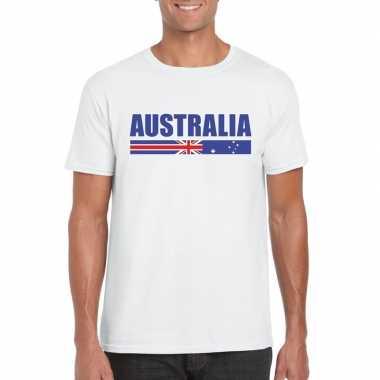Australische supporter t shirt wit heren