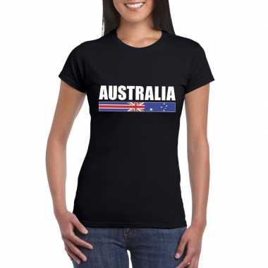 Australische supporter t shirt zwart dames