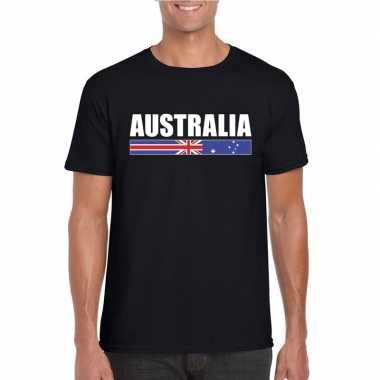 Australische supporter t shirt zwart heren