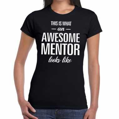 Awesome mentor fun t shirt zwart dames bedankt cadeau een mentor