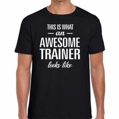Awesome trainer fun t shirt zwart heren bedankt cadeau een trainer