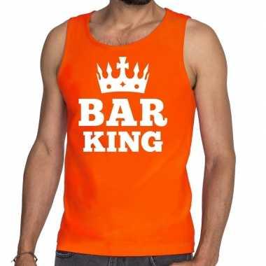 Bar king mouwloos shirt / tanktop oranje heren