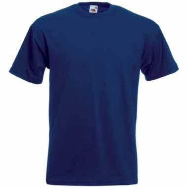 Basis heren t shirt donker blauw ronde hals
