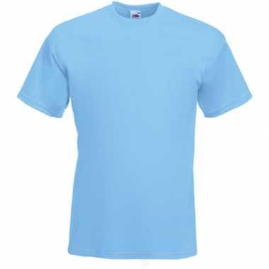 Basis heren t shirt licht blauw ronde hals