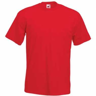 Basis heren t shirt rood ronde hals