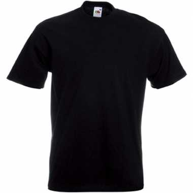 Basis heren t shirt zwart ronde hals