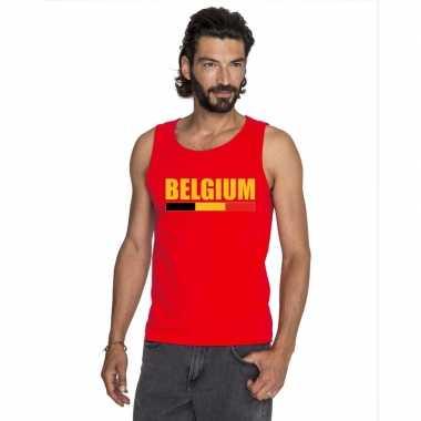 Belgie supporter mouwloos shirt/ tanktop rood heren