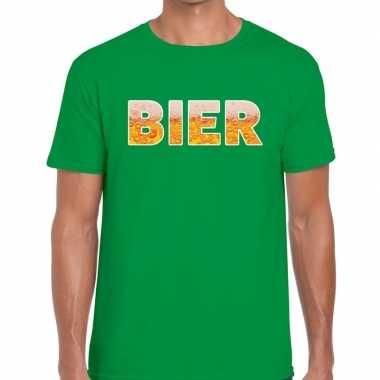Bier fun t shirt groen heren