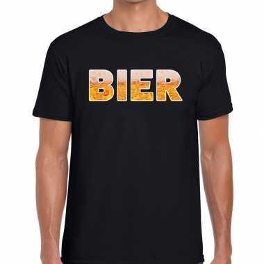 Bier fun t shirt zwart heren