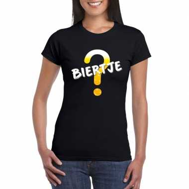 Biertje fun t-shirt zwart dames