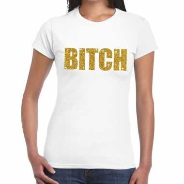 Bitch fun t shirt wit dames