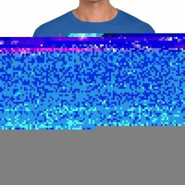 Blauw dit shirt zit een topper fun t shirt heren