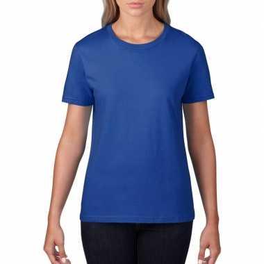 Blauwe dames casual t shirts ronde hals