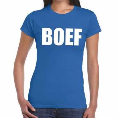Boef fun t shirt blauw dames