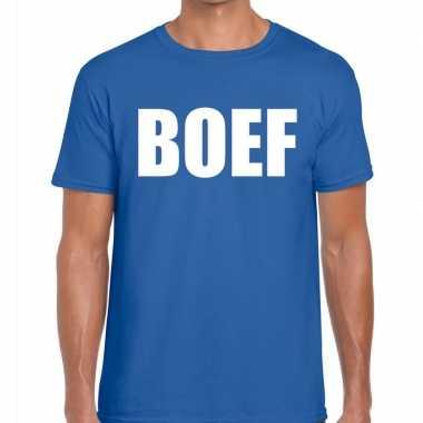 Boef fun t shirt heren blauw