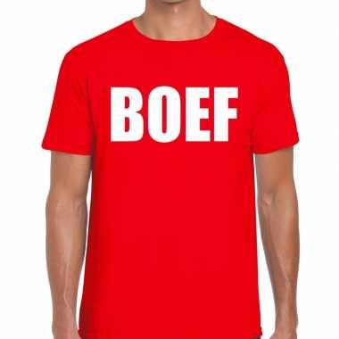 Boef fun t shirt heren rood