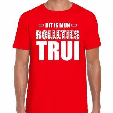 Bolletjes trui bergtrui t-shirt rood heren wieler tour t wielerwedstrijd rui shirt rood