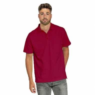 Bordeaux rode poloshirt heren