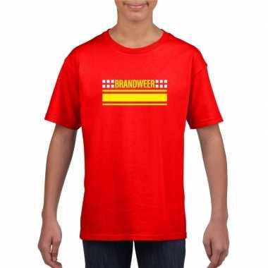 Brandweerman shirt rood kinderen
