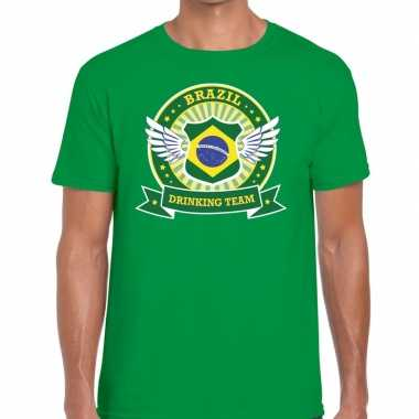 Brazil drinking team t shirt groen heren