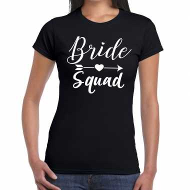 Bride squad fun t shirt zwart dames