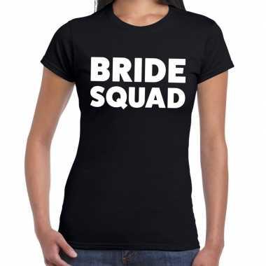 Bride squad fun t shirt zwart dames