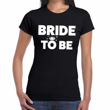 Bride to be fun t shirt zwart dames