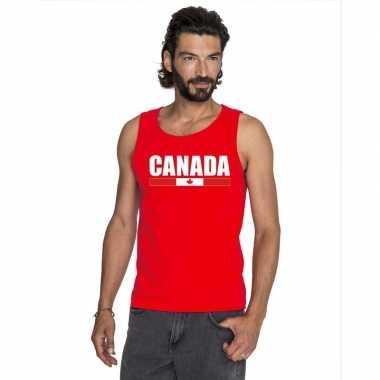 Canada supporter mouwloos shirt/ tanktop rood heren