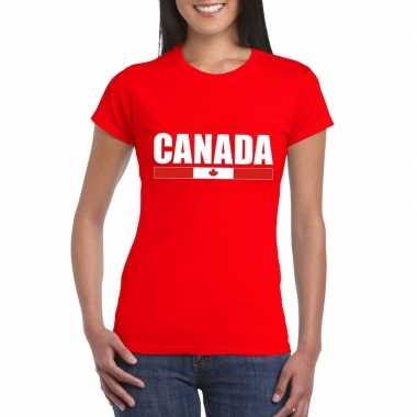 Canadese supporter t shirt rood dames