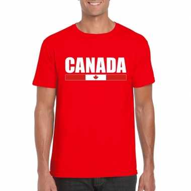 Canadese supporter t shirt rood heren