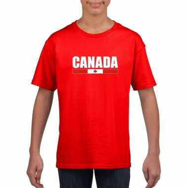 Canadese supporter t shirt rood kinderen