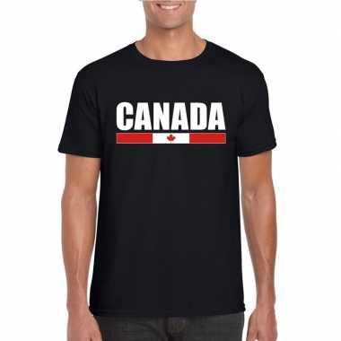 Canadese supporter t shirt zwart heren